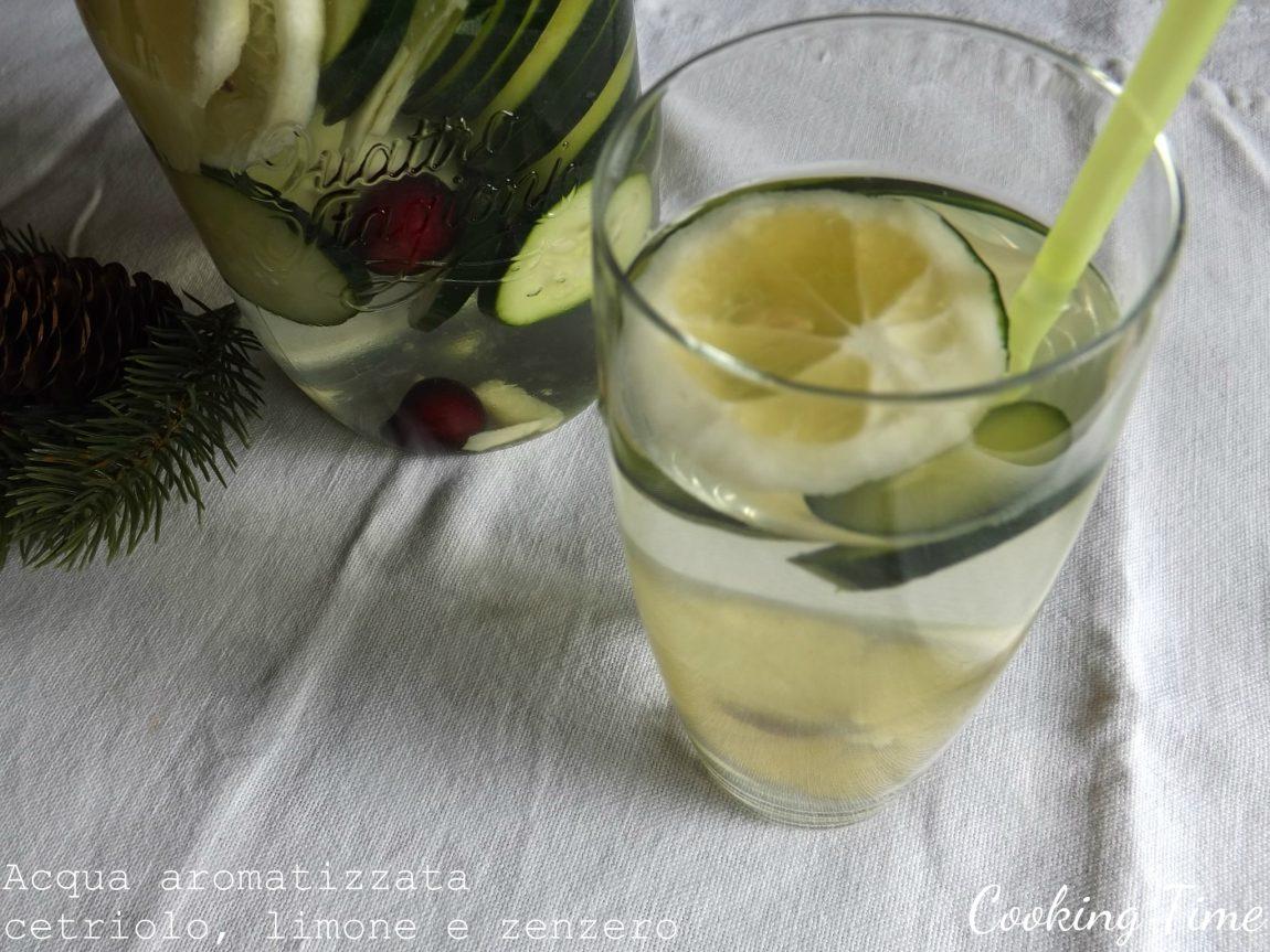 cetriolo, limone e zenzero