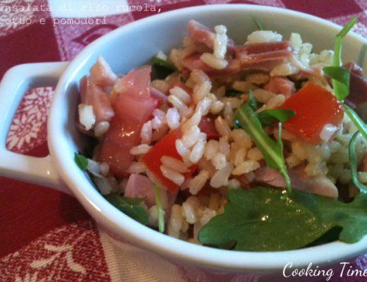 riso rucola, cotto e pomodori
