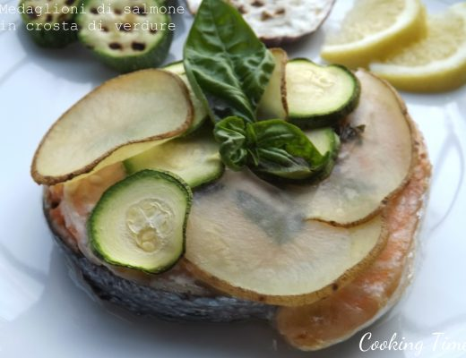 salmone in crosta di verdure