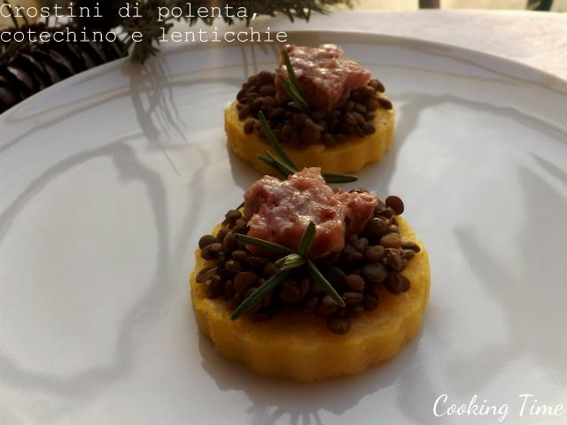 polenta, cotechino e lenticchie
