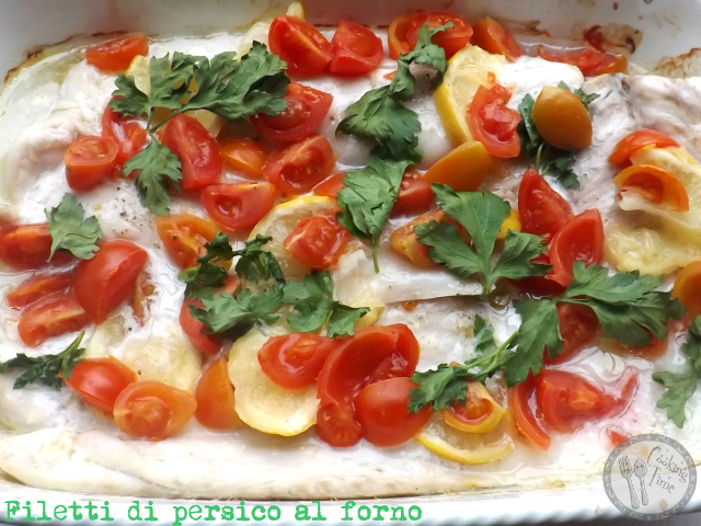 Filetti di persico al forno