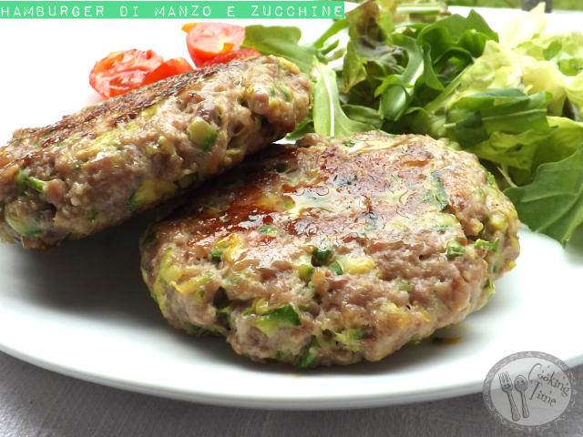 Hamburger di manzo e zucchine
