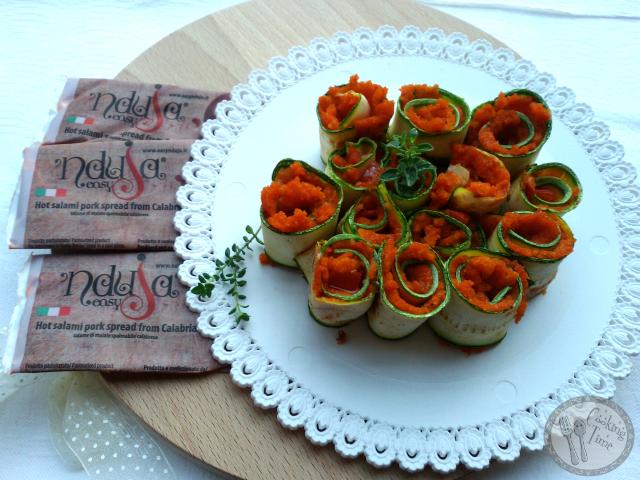 Involtini di zucchine con pane e 'nduja