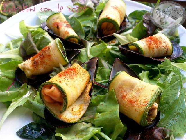 Involtini di cozze e zucchine
