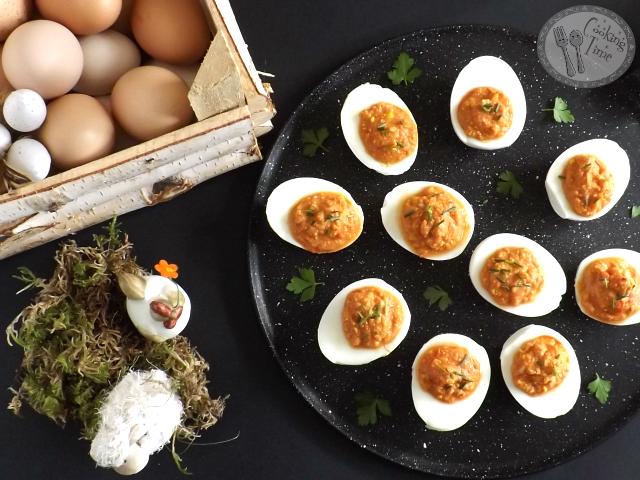 Uova farcite con 'nduja