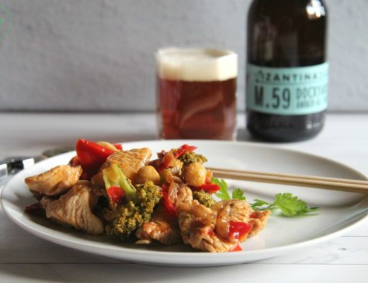 Pollo con verdure alla soia