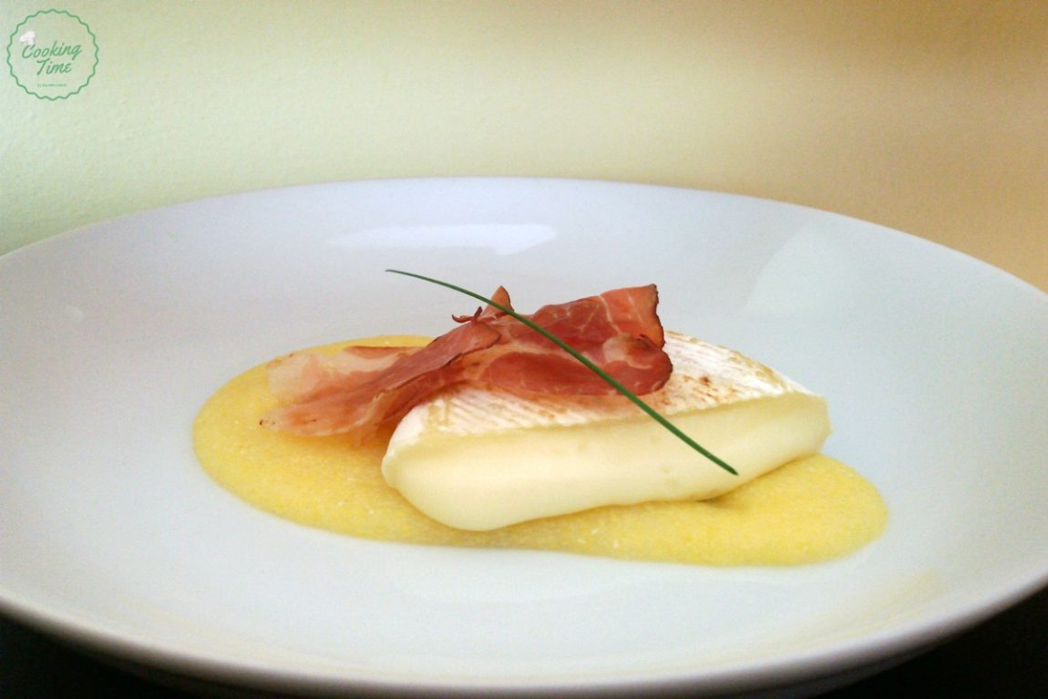 tomino, polenta e speck